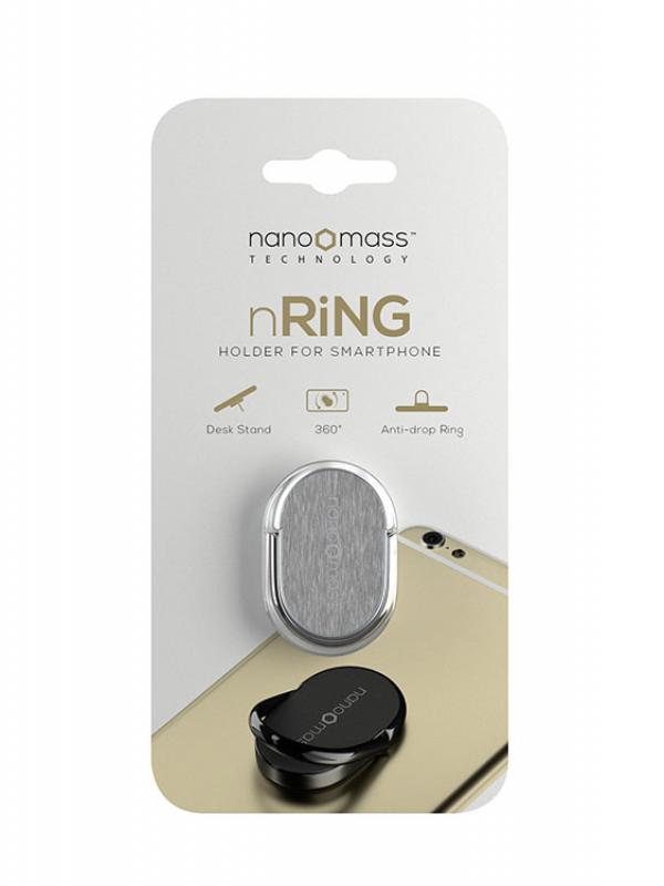 nRiNG - Anello di Supporto per Smartphone, colore argento